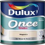 Dulux Once Gloss Wood Paint, Metal Paint Beige 0.75L