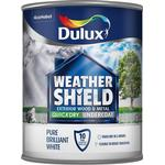 Metal Paint Dulux Weathershield Quick Dry Undercoat Exterior Wood Paint, Metal Paint White 0.75L