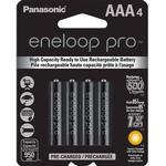 Rechargeable Standard Batteries Panasonic Eneloop Pro AAA 4-pack