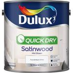 Metal Paint Dulux Quick Dry Satinwood Wood Paint, Metal Paint White 2.5L