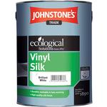 Eco-labelling - White Paint Johnstone's Trade Vinyl Silk Wall Paint, Ceiling Paint White 1L