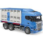 Bruder Scania R Series Livestock Transporter with One Cow 03549
