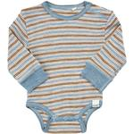 Wool - Bodysuits Children's Clothing CeLaVi Body LS Wonder Wollies - Blue Shadow (330200-7870)