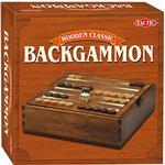 Board Games Tactic Wooden Classic Backgammon