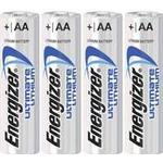 AA (LR6) - Camera Batteries Energizer AA Ultimate Lithium Compatible 4-pack