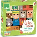 Activity Toys - Wood Vilac Sound Cubes from the Farm 2102