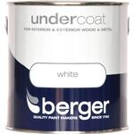 Metal Paint price comparison Berger Undercoat Wood Paint, Metal Paint White 2.5L