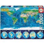Educa Neon World Map 1000 Pieces