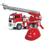 Fire fighter - Lorry Bruder Fire Engine with Helmet 01981