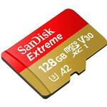 SanDisk Extreme microSDXC Class 10 UHS-I U3 V30 A2 160/90MB/s 128GB +Adapter