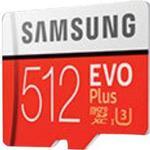 Samsung EVO Plus microSDXC UHS-I U3 100/90MB/s 512GB +Adapter