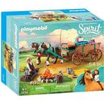 Play Set - Horse Playmobil Lucky's Dad & Wagon 9477