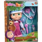 Doctor Toys - Plasti Simba Masha & the Bear Doctor Set