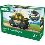 Train on sale Brio Light Up Gold Wagon 33896