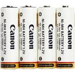 White - Rechargeable Standard Batteries Canon NB4-300 Compatible 4-pack