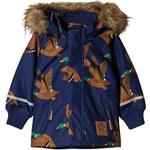 Hidden Zip - Parkas Children's Clothing Mini Rodini K2 Wild Duck Parka - Dark Blue (1871010867)