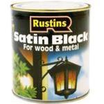 Wood Paint price comparison Rustins Quick Dry Satin Black Wood Paint, Metal Paint Black 0.25L