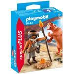 Play Set - Tiger Playmobil Caveman with Sabertooth Tiger 9442