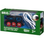 Toy Train - Plasti Brio Rechargeable Engine with Mini USB Cable 33599