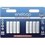 AA (LR6) - Rechargeable Standard Batteries Panasonic Eneloop AA Compatible 8-pack