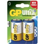 Batteries & Chargers GP Ultra Plus Alkaline D 2-pack
