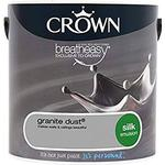 Wall Paint Crown Breatheasy Wall Paint, Ceiling Paint Grey 2.5L