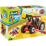 Construction Kit - Farm Life Revell Junior Kit Tractor with Loader & Figure 00815