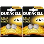 Button Cell Batteries Duracell CR2025 Compatible 4-pack
