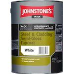 Anti-corrosion Paint Johnstone's Trade Steel & Cladding Semi-Gloss Topcoat Anti-corrosion Paint White 5L