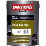 Anti-corrosion Paint Johnstone's Trade Steel & Cladding Semi-Gloss Topcoat Anti-corrosion Paint Black 5L