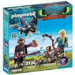 Playmobil Hiccup & Astrid with Baby Dragon 70040