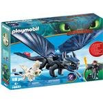 Animals - Play Set Playmobil Hiccup & Toothless with Baby Dragon 70037