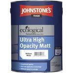 Eco-labelling - White Paint Johnstone's Trade Ecological Ultra High Opacity Matt Concrete Paint White 5L