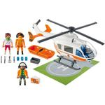 Toy Helicopter - Plasti Playmobil Rescue Helicopter 70048