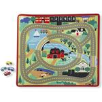 Play Mats Melissa & Doug Round the Town Road Rug & Car Set