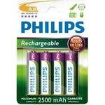 Rechargeable Standard Batteries on sale Philips R6B4RTU25/10 Compatible 4-pack