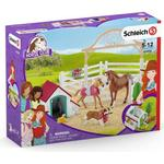 Play Set - Dog Schleich Horse Club Hannah's Guest Horses with Ruby the Dog 42458