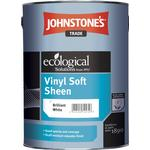 Eco-labelling - White Paint Johnstone's Trade Ecological Vinyl Soft Sheen Concrete Paint White 2.5L