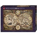Heye World Map Vintage 2000 Pieces