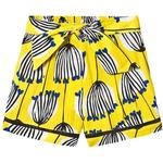 Shorts - Viscose Children's Clothing Catimini Floral Print Shorts - Yellow (CN26005)