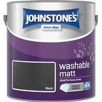 Johnstones Washable Matt Wall Paint, Ceiling Paint Black 2.5L