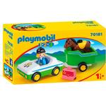 Animals - Car Playmobil Car with Horse Trailer 70181