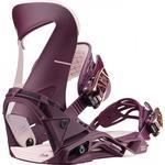 Snowboard Bindings - Purple Salomon Hologram W