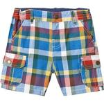 Shorts - 3-6M Children's Clothing Frugi Check Shorts - Scilly Check (SHS901SCK)