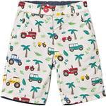 Shorts - Buttons Children's Clothing Frugi Reuben Reversible Shorts - Tropical Tresco (SHS952TRT)