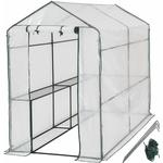 Freestanding Greenhouses price comparison tectake Tarpaulin 2.1m² Stainless steel Plastic