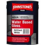 Eco-labelling - White Paint Johnstone's Trade Aqua Water Based Gloss Wood Paint, Metal Paint White 1L