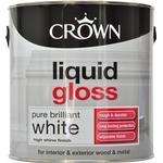 Metal Paint Metal Paint price comparison Crown Liquid Gloss Wood Paint, Metal Paint White 2.5L