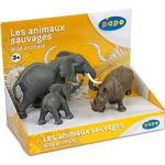 Figurines - Elephant Papo Display Box wild Animals 3 80002