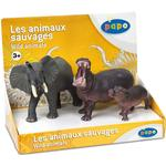 Figurines - Elephant Papo Display Box Wild Animals 2 80001